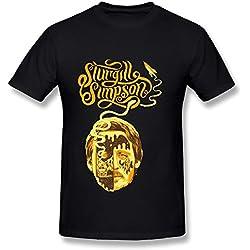 Sturgill Simpson Tour Poster 2016 Men Tee Shirt Black