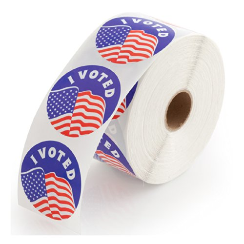I Voted Stickers Roll – Qty. 1000 Labels