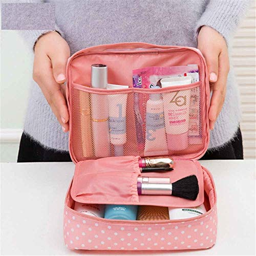 FASTUNBOX (LABEL) Travel Cosmetic Makeup Case Wash Organizer Storage Pouch Travelling Organizer Travel Bag Travel for…
