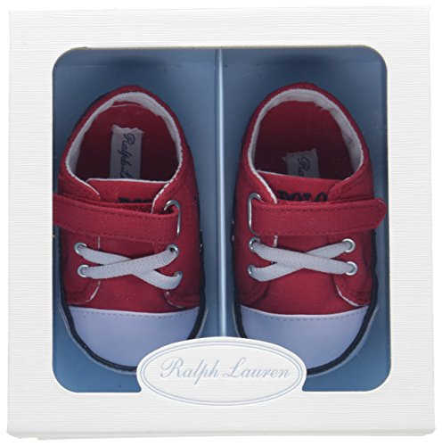 Toddler M Velcro Infant US Athletic laces Layette Lauren And Infant Ralph Kody Red 1 qF8BBf