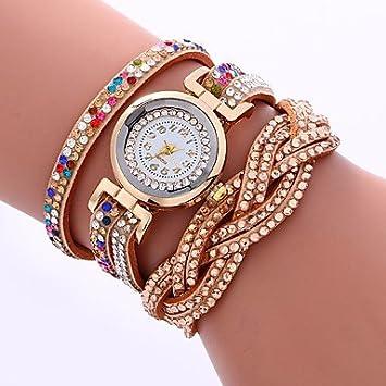 Relojes de hombre Mujer Reloj Pulsera Cuarzo La imitación de diamante PU Banda Analógico Casual Moda