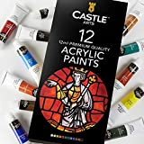 Castle Art Supplies Acrylic Paint Set 12 Colors for