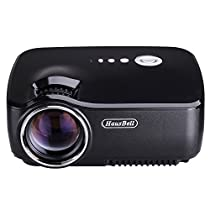 Projector, Hausbell Mini Projector Portable Video LED Projector HD for Outdoor Indoor Movie/Home Cinema Theater/Game (Black)