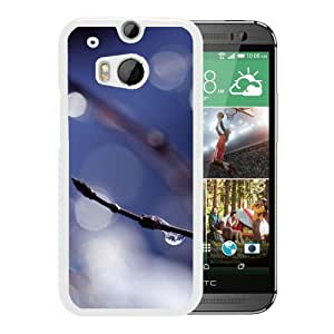 New Beautiful Custom Designed Cover Case For HTC ONE M8 With Wet Twig (2) Phone Case