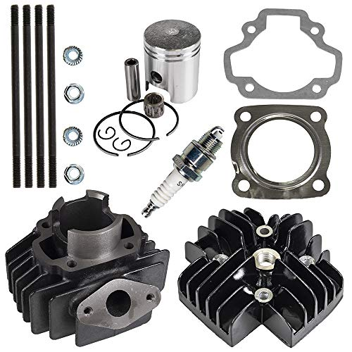 50cc Engine Piston Cylinder Head Gasket Top End Kit For 1979-2017 Yamaha PW50 QT50 Towny Replaces 3L5-11311-01-00