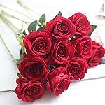CQURE-Artificial-FlowersFake-Flowers-Bouquet-Silk-Roses-Real-Touch-Bridal-Wedding-Bouquet-for-Home-Garden-Party-Floral-Decor-10-Pcs-Red