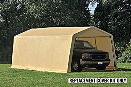 ShelterLogic Replacement Cover Kit 10x20x8 for Model 62680 32680 (5.5oz Tan) & Amazon.com : ShelterLogic Replacement Cover Kit 10x20x8 for Model ...