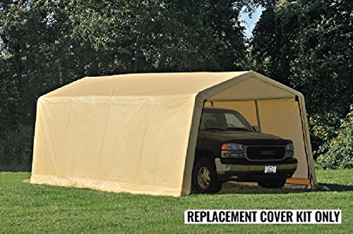 ShelterLogic Replacement Cover Kit 10x20x8 for Model 62680, 32680 (5.5oz Tan) - Shelterlogic Cover