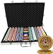 MRC 1000 Ct High Roller Casino 14 Gram Poker Chip Set Aluminum Case - Choose Denomination