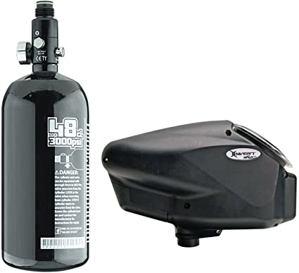 Empire Halo Too Electronic Hopper and Basic 48//3000psi HPA N2 Tank Combo Package