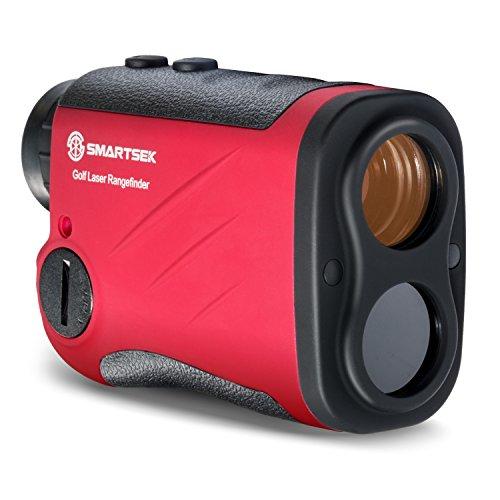 SMARTSEK Golf Rangefinder Laser Distance Finder for Hunting Golf Engineering Survey Waterproof Portable 6x magnification 5 550Yds Red ProX7
