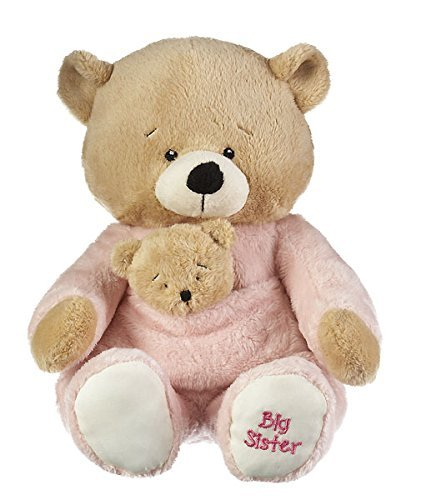- Ganz Baby's First Big Sister Bear Brown, Pink 14 inches