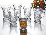 Studio Silversmiths Set OF 6 Basic Crystal Tea Cups