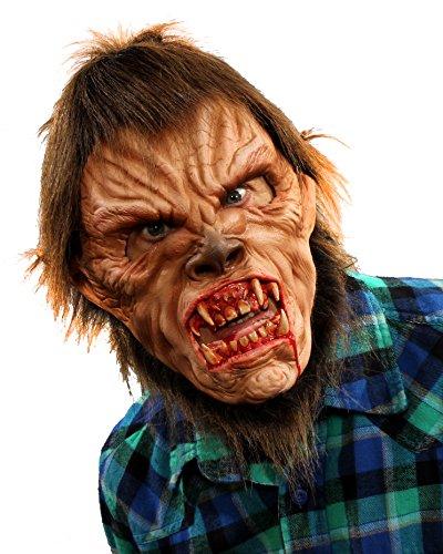 Zagone Studios Ultra-Deluxe Man-Wolf Werewolf Halloween Mask (Deluxe Wolfman Latex)