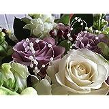 JTL - Filo a cappio, con perline, per bouquet da matrimonio