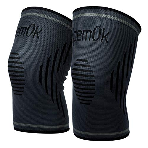 SpemOk Knee Brace 1 Pair Compression Sleeves Pads for Running, Arthritis, Pain Relief, Injury Recovery, Meniscus Tear, fit for Men and Women (Medium)