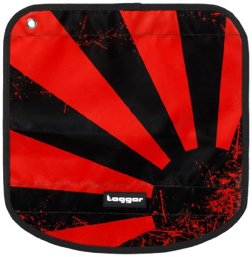 Tagger Messenger Flap Crew - Japanese Sundown BBRD 5001-502201-BBRD Unisex - Erwachsene Messengerbags, Rot (BBRD), 30X22X10 cm (B x H x T) Rot/Bbrd