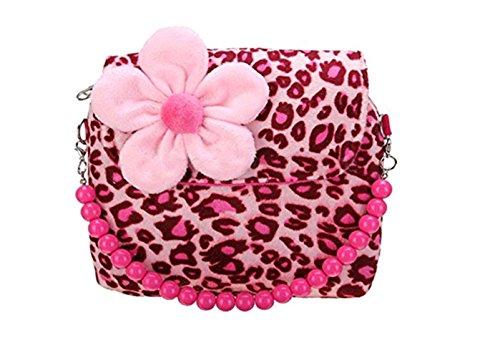 Price comparison product image 2 Strap Children Girls Handbag Kids Package Messenger Shoulder Crossbody Bag Hot (Leopard)