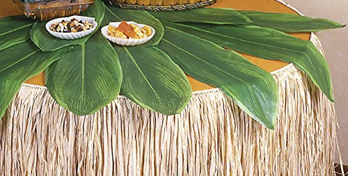 Hawaiian Ti Leaves Table Decor, 5 piece, 2 Feet by 7 Inches