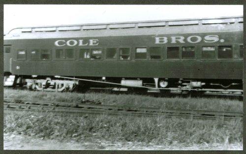 (Sleeper Pullman Cole Bros Circus Train Auburn NY 1949)
