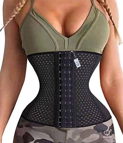 Fitness Quick Weight Loss Metabolism Waist Trainer Cincher Corset Belt (XX-Large, Black)