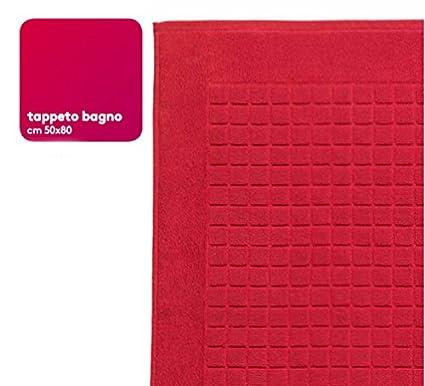 Bassetti Mania Tappeto Bagno 50x80 100% Cotone (Rosso): Amazon.it ...