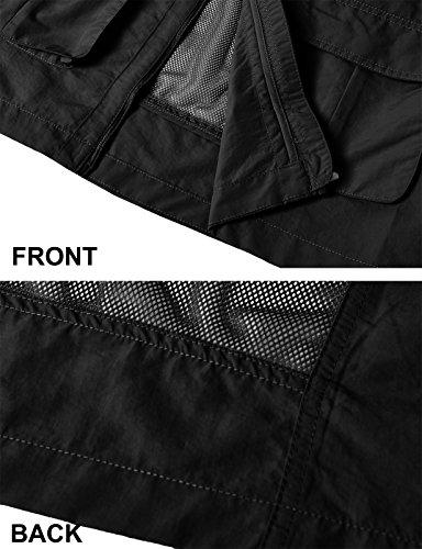 with Multiple Sports Mens KMOV0151 H2H Travels Hunting Pockets Fashion Casual Utility Vest Work BLACK Wzwq1R4wv