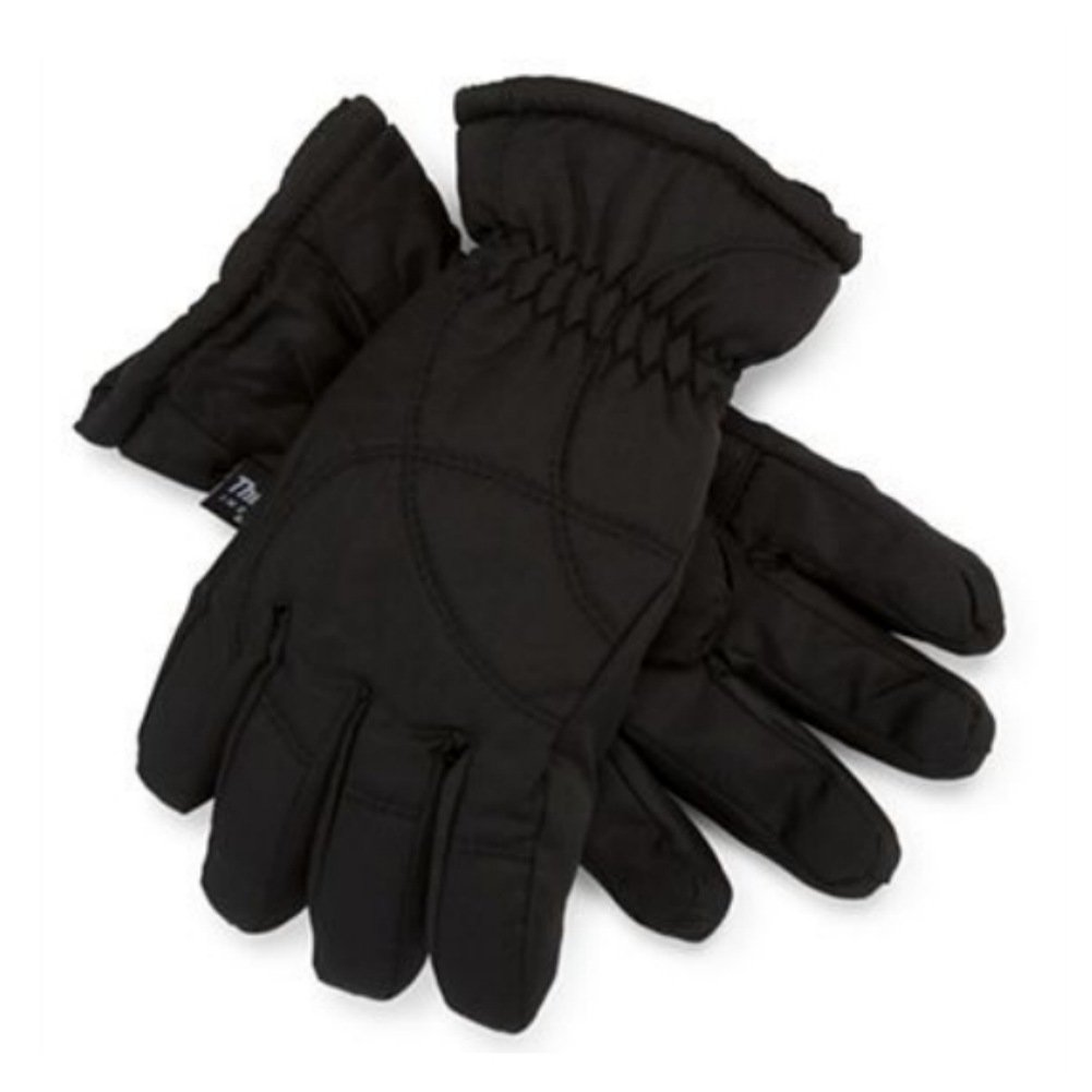 Igloos Boys Black Snow /& Ski Gloves With Gathered Wrist /& Inner Cuff