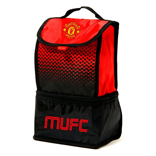 Manchester United Fc Official Fade Insulated Football Crest Lunch Bag (one (United Box Manchester Lunch)