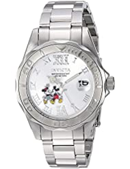 Invicta Womens Disney Limited Edition Quartz Stainless Steel Casual Watch, Color:Silver-Toned (Model: 22867)