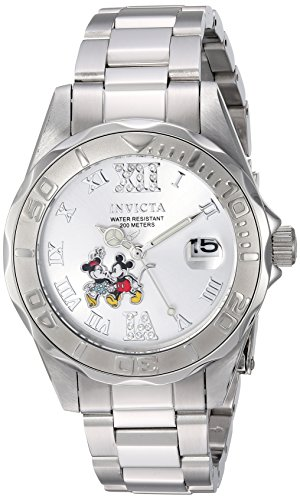 Invicta Women's 'Disney Limited Edition' Quartz Stainless Steel Casual Watch, Color:Silver-Toned (Model: 22867) - Disney Watch Featuring Minnie Mouse