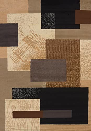 United Weavers of America Soho Manhattan Rug Collection, 5 3 by 7 6 , Brown