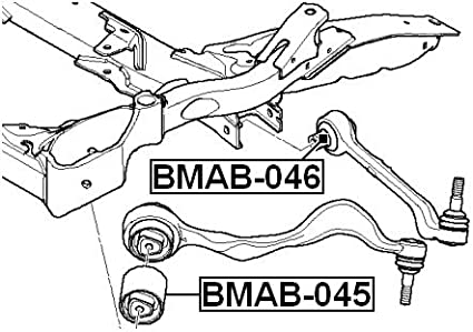 31126763719 FEBEST # BMAB-045 1 Year Warranty ARM BUSHING FOR FRONT TRACK CONTROL ROD