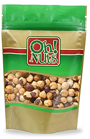 Hazelnuts Roasted Unsalted Healthy Nuts, Hazelnuts Filberts Dry Roasted with NO ADDED OILS or SALT - Oh! Nuts (2 LB Hazelnuts Roasted (Hazelnut Roasted)