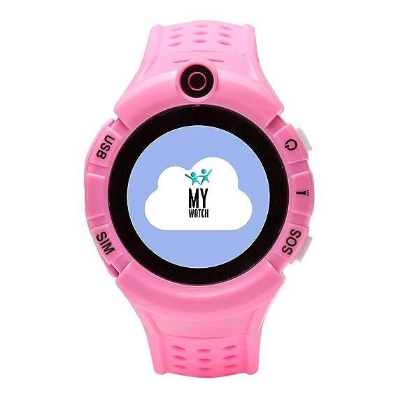 Mywatch, Nuevo Smartwatch niños, Reloj Inteligente niños, Reloj localizador GPS niños, Linterna, Botón SOS, Detección de ausencia, Regalo niño niña de ...