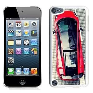NEW Unique Custom Designed iPod Touch 5 Phone Case With Lamborghini Gallardo Top View_White Phone Case