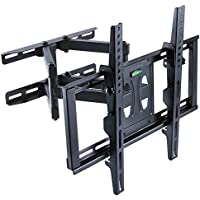 UNHO Dual Arm TV Wall Mount Bracket Full Motion Tilt Swivel upto 70 inch LCD LED OLED and Plasma Flat Screen TV with Tilting Swivel Articulating Arm up to VESA 600x400mm and 110 lbs