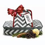 Premium Thermal Insulated Stylish Casserole Carrier to Tote and Keep Best Lasagna Potluck Picnic Holiday Dish & Recipes Hot or Cold for Hours by Domestic Diva LA