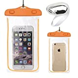 Cell Phone Waterproof Case Dry Pouch Bag for Iphone 6, 5, 4 - Samsung Galaxy S6 Edge, S6, S5, S4 ,Samsung Note 4, 3 - Htc, Nokia (orange)
