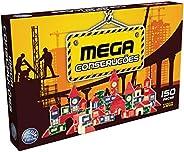 Brinquedo para Montar Mega Construções 150 Peças Pais e Filhos