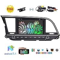 Eincar 2 Din 8 Car Stereo Android 7.1 Car DVD Player con 1024600 Resolution Touchscreen For Hyundai Elantra Support GPS/Mirror Link/Bluetooth/WIFI/RDS/AM/FM Radio/Rear Camera Input + Wireless Cam