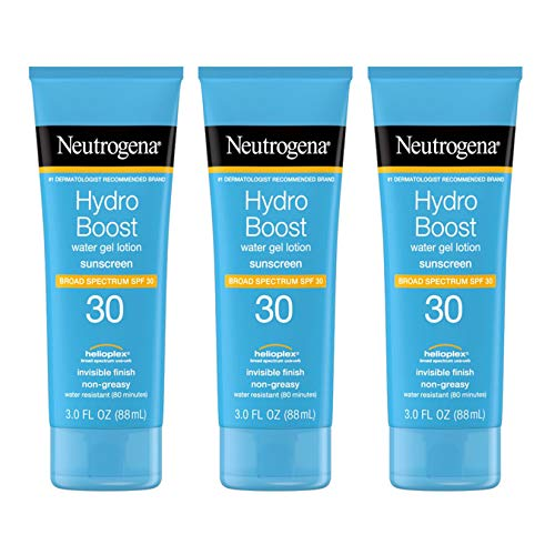 Neutrogena Hydro Boost Water Gel Non-Greasy Moisturizing Sunscreen Lotion with Broad Spectrum SPF 30, Water-Resistant…