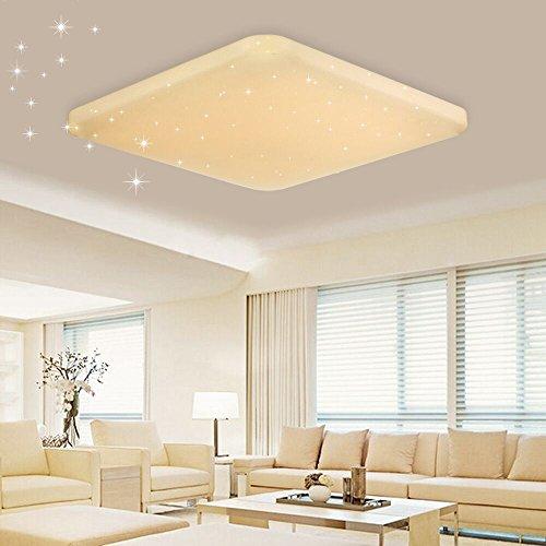 VINGO® LED Deckenleuchte Sternenhimmel Effekt 60W warmweiß(2700K-3000K) Kinderzimmer Schlafzimmer Decken eckig starlight Lampe