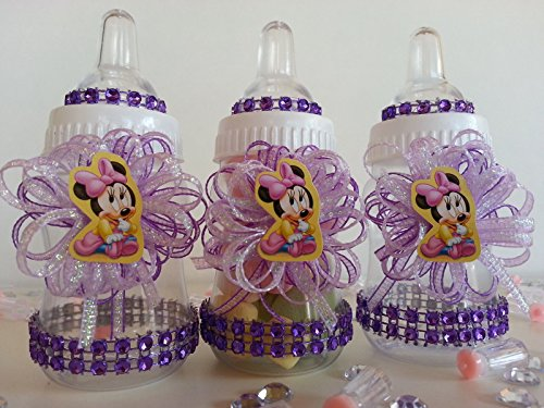 12 Minnie Mouse Fillable Bottles Baby Shower Favors Prizes Girl Decorations by Product789