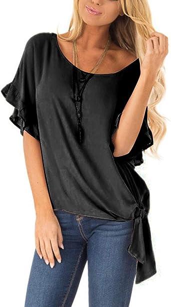 Costura Color de ContrasteTops Mujer Fiesta Lentejuelas Ronamick Moda Mujer Camisetas Deportivas Mujer Blusa Dorada Mujer Moda Mujer Camisa Roja Mujer(Negro,M): Amazon.es: Iluminación