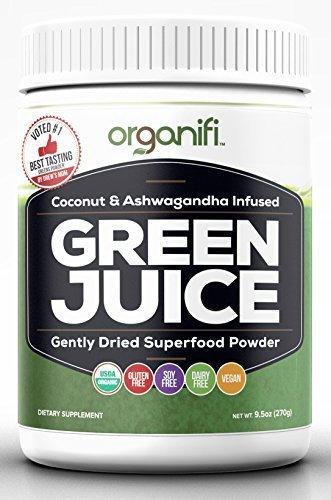 Organifi - Green Juice Super Food Supplement (270g) 30 Day Supply. USDA Organic Vegan Greens Powder by Organifi