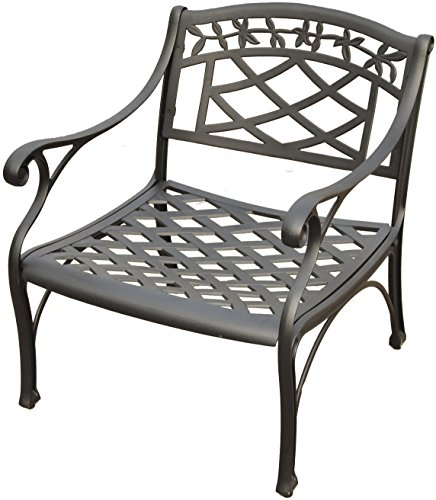 Crosley Furniture CO6103-BK Sedona Solid-Cast Aluminum Outdoor Club Chair, Black
