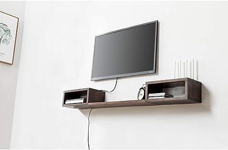 XINGPING-Shelf Estante de Pared de Madera Maciza Creativa para Colgar en la Pared de la TV, Sala de Estar, partición de Palabras de Roble Blanco Estante para Colgar en la Pared: Amazon.es: