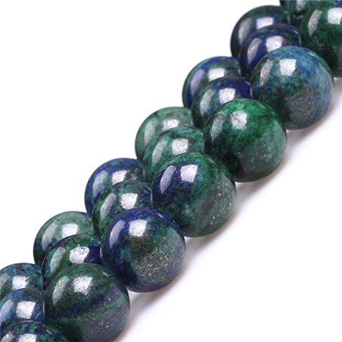 - JOE FOREMAN 14mm Lapis Lazuli Malachite Semi Precious Gemstone Round Loose Beads for Jewelry Making DIY Handmade Craft Supplies 15