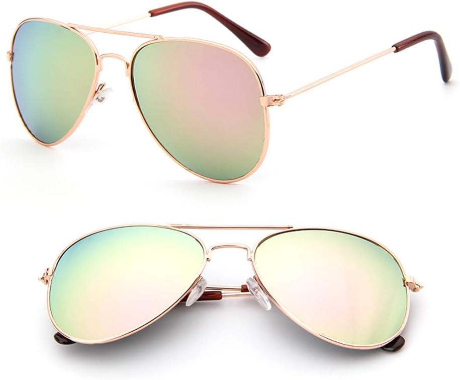 ruiruiNIE Kinder-Kleinkind-Jungen-M/ädchen-UVschutz-Brillen-Sonnenbrille-Schutzbrillen UV400Gold und Rosa